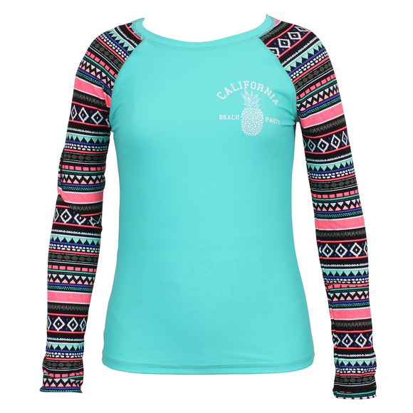 Floral Tribe - Girls' Long-Sleeved Rashguard