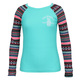 Floral Tribe - Girls' Long-Sleeved Rashguard - 0