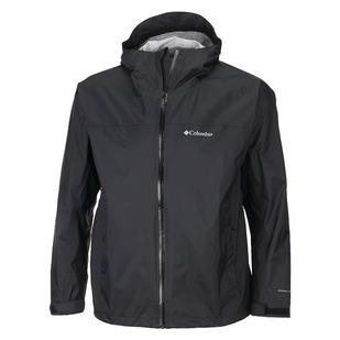 Evapouration (Plus Size) - Men's Hooded Rain Jacket