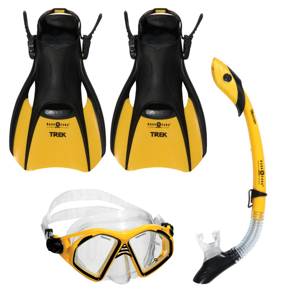 Admiral LX/Island Dry/Trek - Mask, snorkel and fins