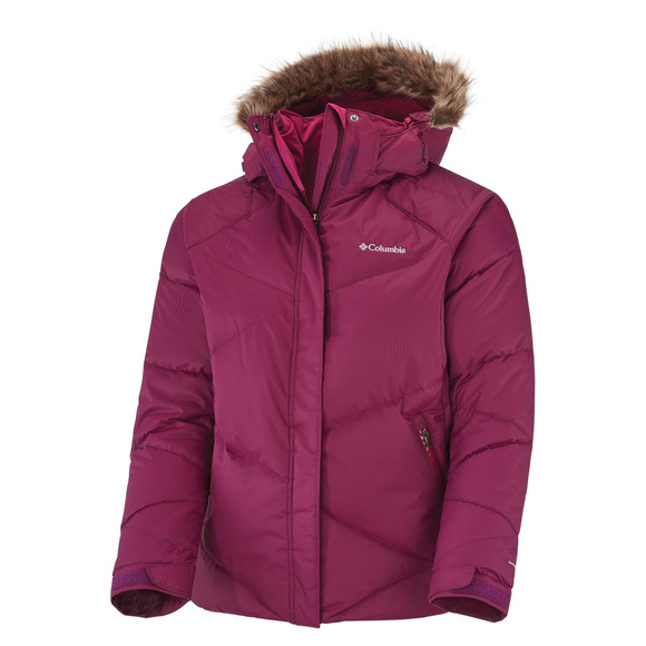 Lay D Down (Plus Size) - Women's Hooded Winter Jacket
