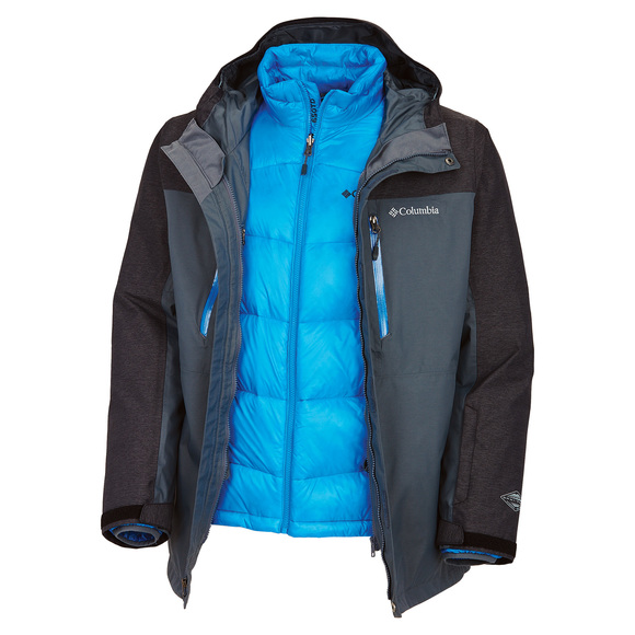 In Bounds 650 TurboDown Interchange - Men's 3 in 1 Down Jacket