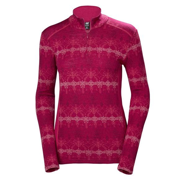 Merino Mid Graphic 1/2 - Women's Half-Zip Baselayer Sweater