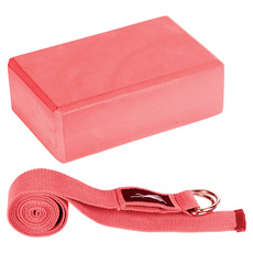 Lila - Yoga Block and Strap