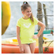 lsland Tiles Solids Jr - Girls' Rashguard  - 2