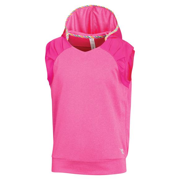 Sport Jr - T-shirt sans manches à capuchon pour fille