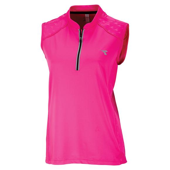 Arrow - Women's sleeveless half-zip cycling jersey
