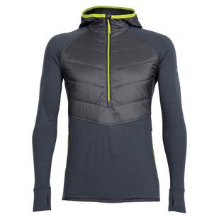 Ellipse - Men's Half-Zip Hooded Long-Sleeved Shirt