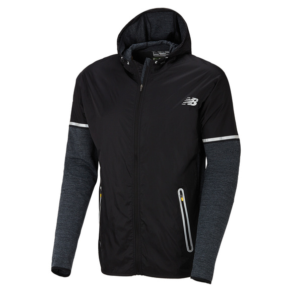 Performance Merino Hybrid - Men's Hooded Running Jacket