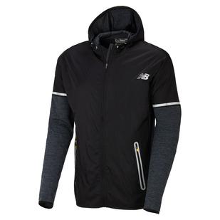 Performance Merino Hybrid - Men's Hooded Running Jacket