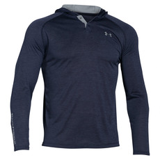 Tech Popover Henley - Men's Hooded Pullover