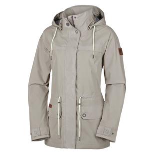 Remoteness - Manteau imperméable à capuchon pour femme