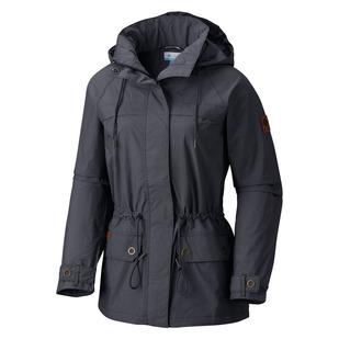 Remoteness - Manteau de pluie à capuchon pour femme