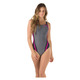 Heather Quantum Splice - Women's Aquafitness One-Piece Swimsuit   - 0