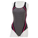 Heather Quantum Splice - Women's Aquafitness One-Piece Swimsuit   - 2