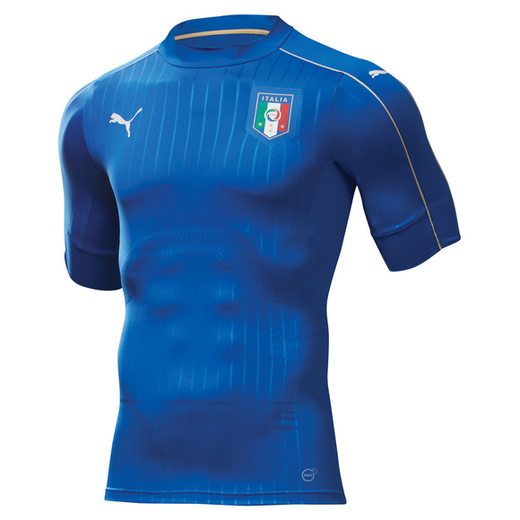 FIGC Italie - Men's Home Replica Soccer Jersey