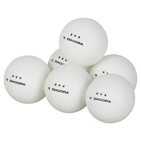 Three Star - Box of 6 Table Tennis Balls