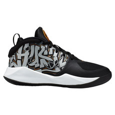 Team Hustle D 9 Graffiti GS - Chaussures de basketball pour junior