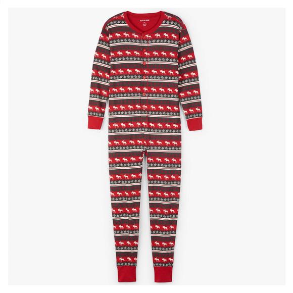 Moose Fair Isle - Pyjama une pièce pour adulte