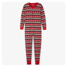 Moose Fair Isle - Adult One-Piece Pyjamas