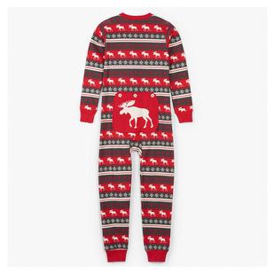Moose Fair Isle Y - Kids' One-Piece Pyjamas
