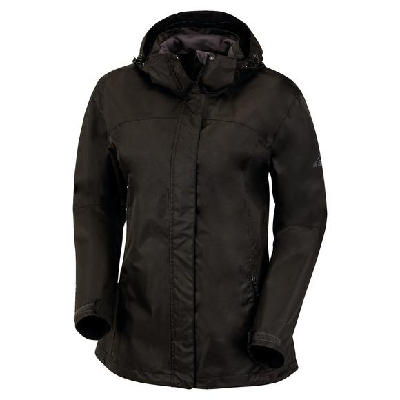 Terang - Manteau laminé à capuchon pour femme