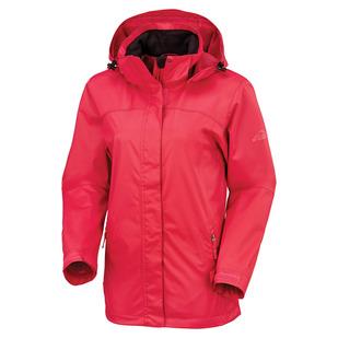 Terang - Manteau de pluie à capuchon pour femme