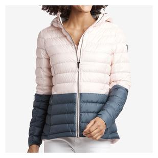 Emeline Colorblock - Manteau mi-saison isolé en duvet pour femme