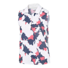 Floral - Women's Sleeveless Golf Polo