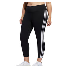 Believe This 3-Stripes (Plus Size) - Women's 7/8 Training Tights