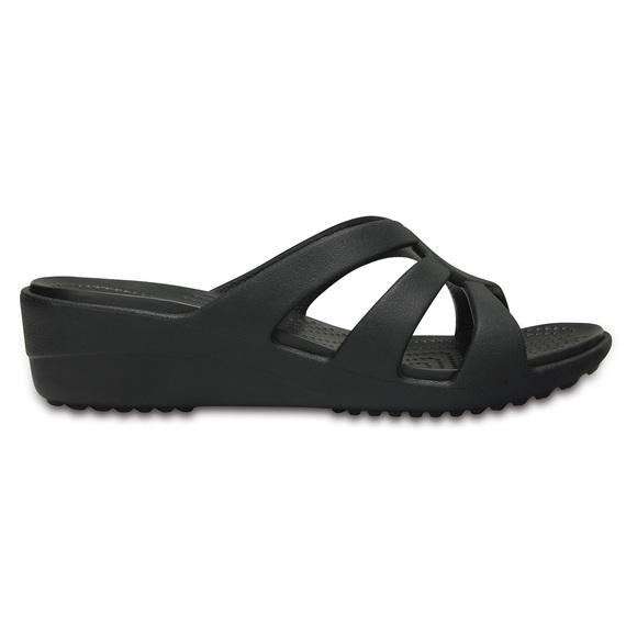 CROCS Sanrah Strappy Wedge - Women s Sandals  516ec87407