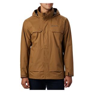 Tryon Trail (Plus Size) - Men's Hooded Rain Jacket