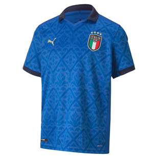 FIGC Italia (Home) Jr - Junior Replica Soccer Jersey