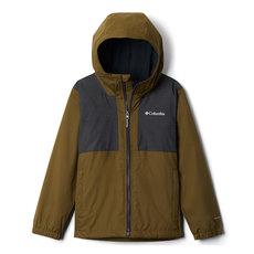 Rainy Trails Jr - Manteau à capuchon doublé de molleton pour garçon
