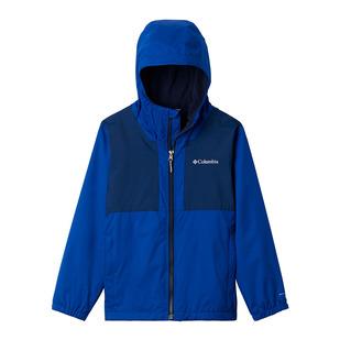 Rainy Trails Jr - Boys' Fleece-Lined Hooded Jacket