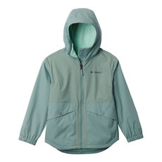 Rainy Trails - Girls' Fleece-Lined Hooded Jacket