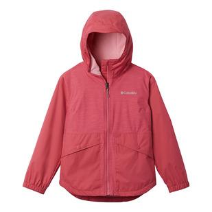 Rainy Trails - Girls' Fleece-Lined Hooded Jacket