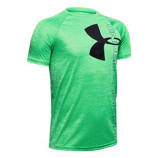 Tech Split Logo Hybrid Jr - T-shirt athlétique pour garçon