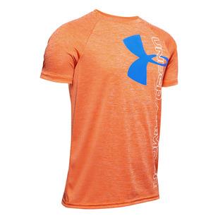 Tech Split Logo Hybrid Jr - Boys' Athletic T-Shirt