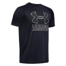 Tech Hybrid Print Jr - Boys' Athletic T-Shirt