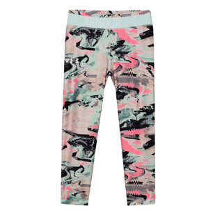 Armour HG Printed Crop Jr - Girls' 7/8 Training Tights
