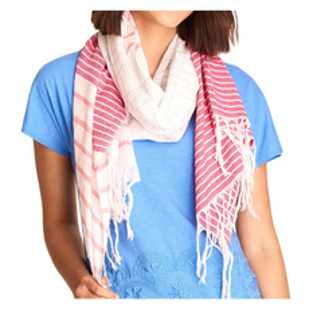 Pink Stripe - Women's Scarf