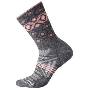 PhD Outdoor Light Pattern - Women's Cushioned Crew Socks