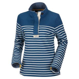 Saunton Salt - Women's Half-Zip Long-Sleeved Shirt