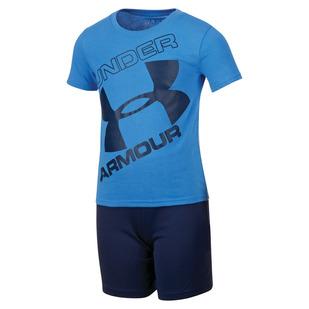 Tilted Big Logo Set Y - Boys' T-Shirt and Shorts