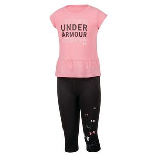 Wordmark Set Y - T-shirt et legging pour fillette