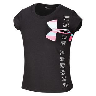 Vertical Wordmark Y - Girls' Athletic T-Shirt