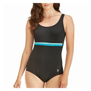Solid Aqua Tank - Women's Aquafitness One-Piece Swimsuit