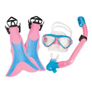 Mermaid Swim Set Jr - Ensemble masque, tuba et palmes pour junior
