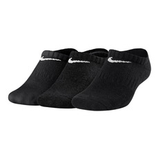 Performance Cushioned No-Show Jr - Socquettes coussinées pour junior (Paquet de 3 paires)